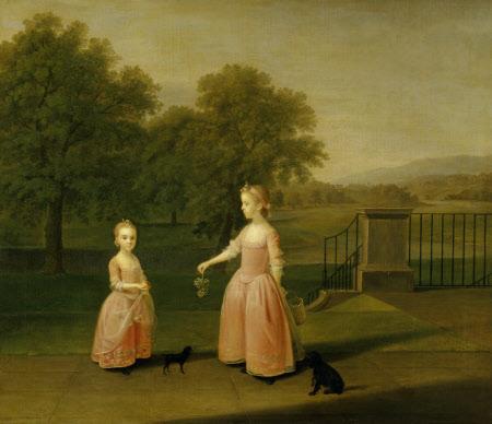 The Edgar Children: Charlotte Edgar (b. 1757) and her Sister Elizabeth Edgar of Red House Park, ...
