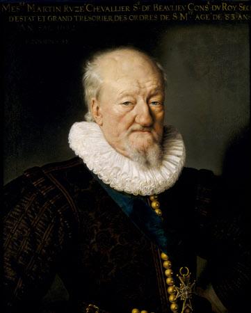 Martin Ruzé, seigneur de Beaulieu (1527-1613), aged 83