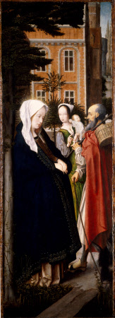 The Virgin and Saint Joseph at Bethlehem (recto) and Virgin Annunciate (verso)