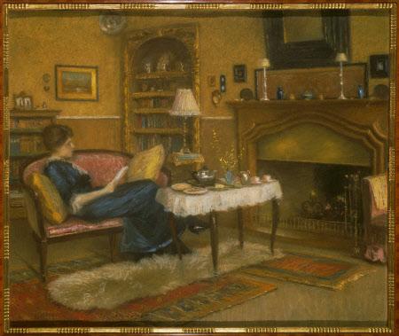 Gioconda Mary Hulton (1887-1940) in the Palazzo Dona, Venice