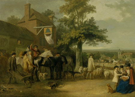 A Village Fair (possibly an Auction of Horses)
