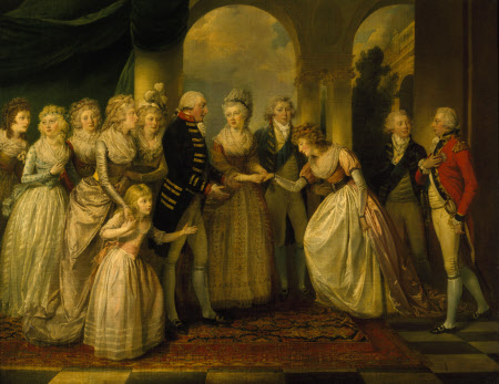 Frederica, Princess Royal of Prussia, shortly to be Duchess of York, presented to King George III