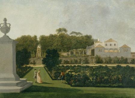 A Garden Scene at an Anglo-Portuguese Quinta (Bemfica), Lisbon
