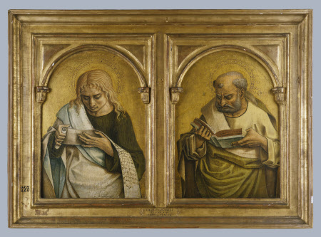 Two Evangelists (Saint John the Evangelist, the Author of a Gospel and possibly Saint Luke) ...