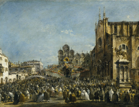 Pope Pius VI blessing the People of Venice in 1782