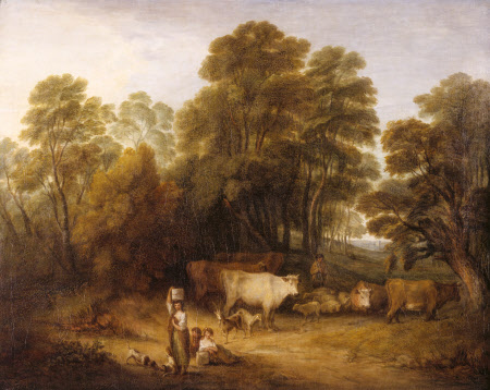Landscape with Children and Cattle