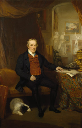 George O'Brien Wyndham, 3rd Earl of Egremont (1751-1837) in the North Gallery, Petworth