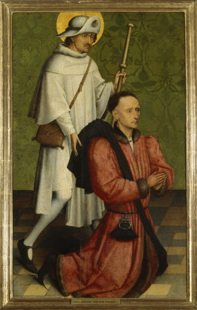 A Donor and Saint James the Great (wing of an altarpiece)