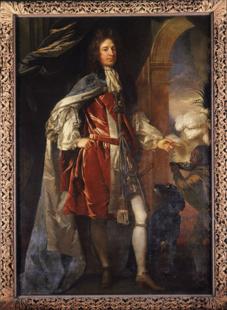 Charles Seymour, 6th Duke of Somerset KG (1662-1748) and a Page