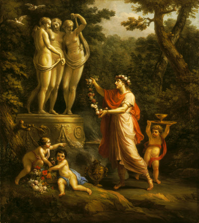 Anacreon sacrificing to the Three Graces