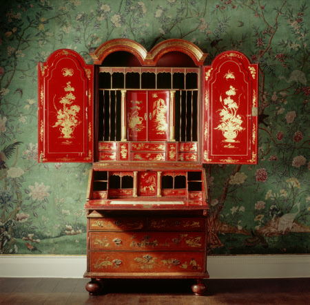 The Erddig 'Red Japan Cabinate' - circa 1720