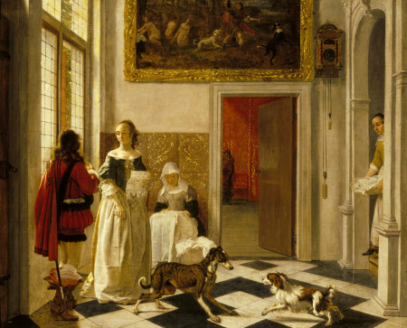 A Lady receiving a Letter
