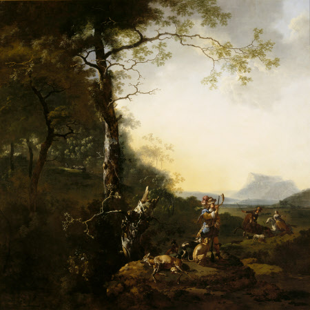 Landscape with Huntsmen