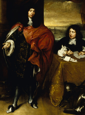 Roger Palmer, 1st Earl of Castelmaine (1634 - 1705), and his Secretary