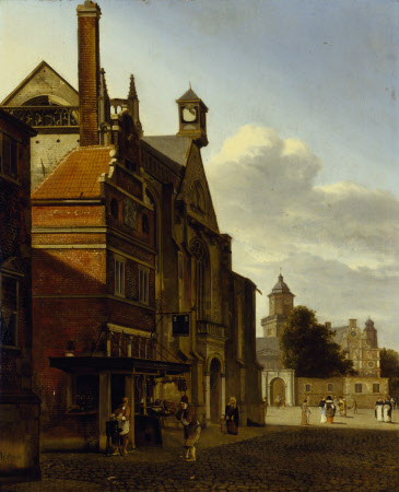 A Square in an Imaginary Dutch or Flemish Town