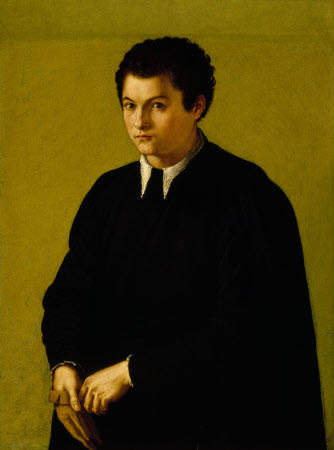 A Youth in Black, holding a Glove
