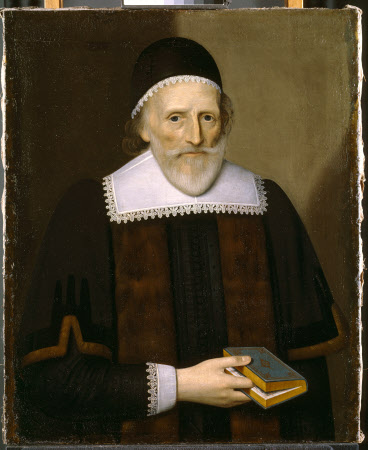 An Unknown Old Man in a Black Skull-cap holding a Book (later called Mr Altham, Common Councilman)