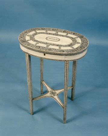 'Lady Clive's Vizagapatam Ivory Occasional Table'