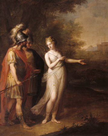 Venus directing Aeneas and Achates to Carthage