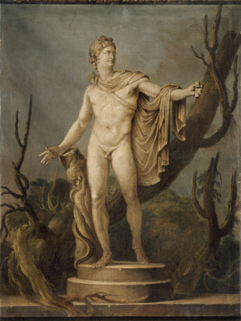 The Apollo Belvedere (Grisaille Paintings of Classical Statuary: a set of eight reproductions of ...