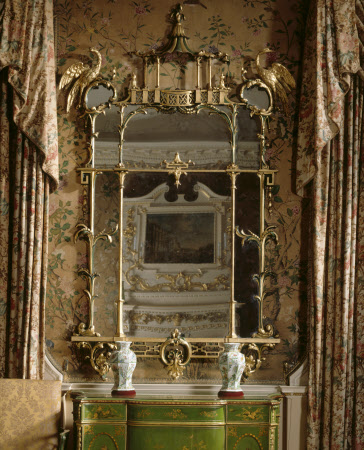 The Nostell Priory 'peir [sic] Glass...in A very large border'd Chinese frame Richly Carv'd & ...