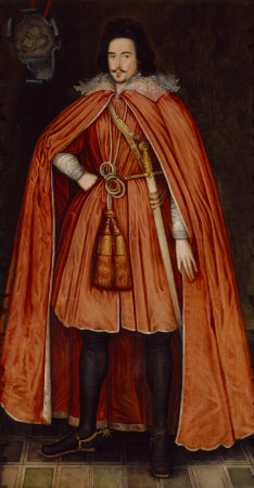Sir Edward Herbert, later 1st Baron Herbert of Cherbury KB (1581/2 – 1648) in the Robes of the ...