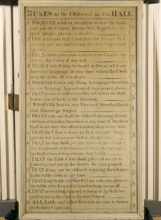 RULES to be Observed in this HALL