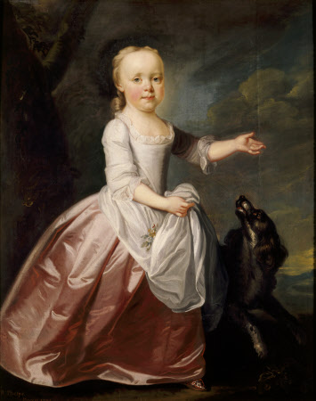 Margaret Luttrell, Mrs John Henry Southcote (1747-1792) as a Child