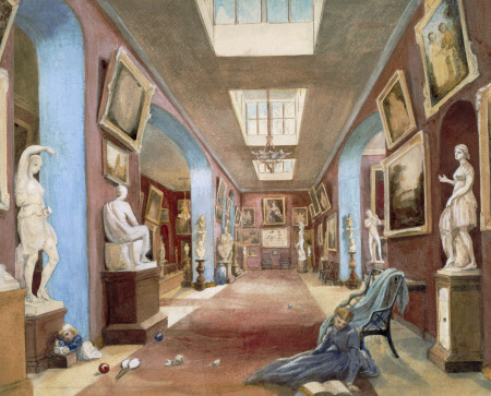 The North Gallery, Petworth House, around 1865