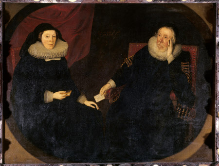 Reputedly Arthur and Elizabeth Chute, but probably Margaret Fiennes, 11th Baroness Dacre ...