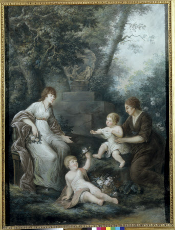 Flora Wynch, Mrs James Legge Willis (1776-1842) with her elder sons James Willis and William ...