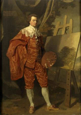 Self-portrait in Vandyke Dress at his Easel