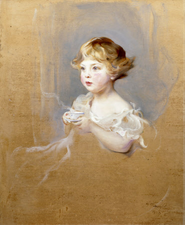 Lady Mairi Elizabeth Vane-Tempest-Stewart, later Viscountess Bury (1921-2009) as a Child aged 2