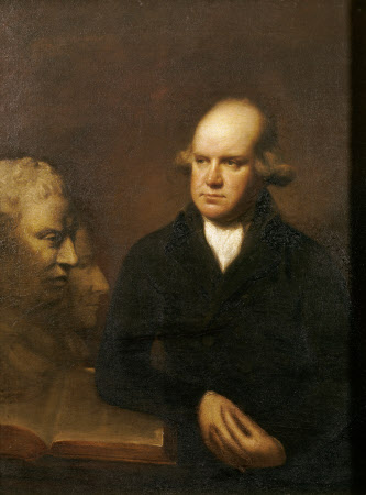 The Reverend Sir Herbert Croft, 5th Bt (1751-1816) with a Bust of Samuel Johnson