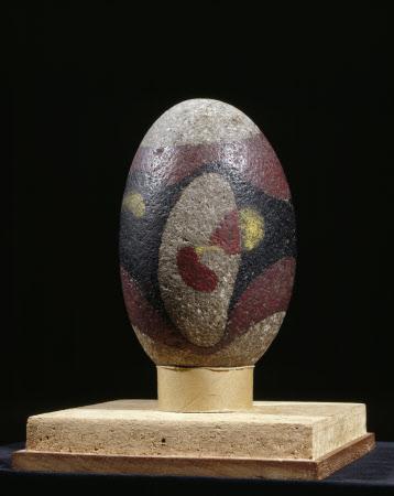 Untitled (Painted Granite Pebble from Maloja)