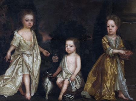 Possibly Edward Rice (1694 - 1727), Elizabeth Rice, later Mrs Thomas Lloyd and Catherine Rice later ...