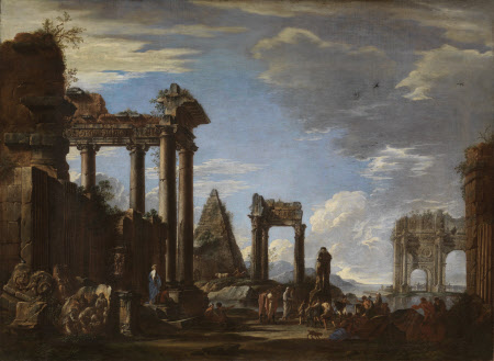 Capriccio of Roman Ruins by the Sea with Preparations for a Sacrifice