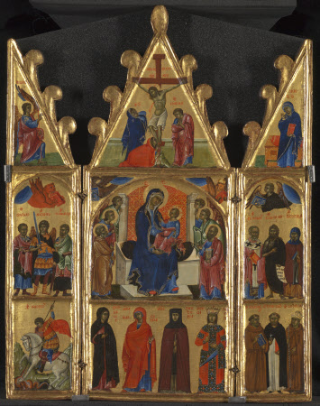 The Virgin and Child Enthroned with Saints