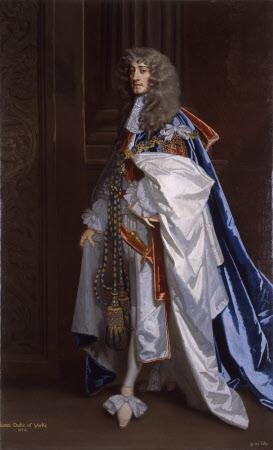 King James II (1633–1701) as Duke of York, in his Garter Robes
