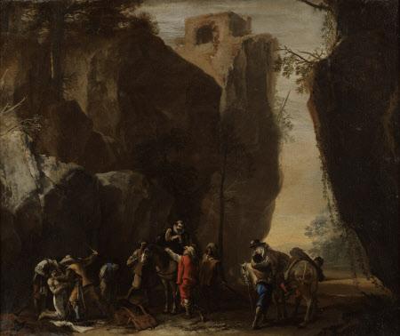 Bandits robbing Travellers