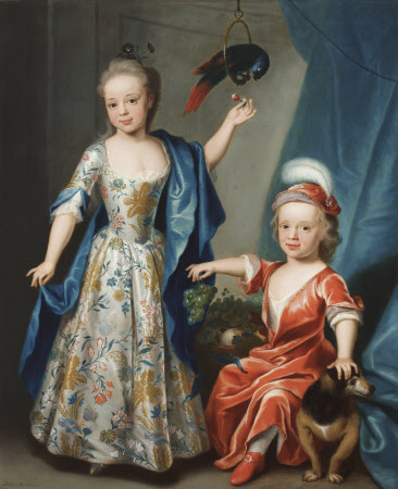 Edward Astley, later Sir Edward Astley, 4th Bt Astley of Hill Morton (1729-1802) and his Sister ...