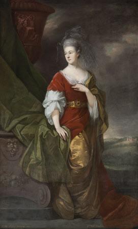 Susanna Robinson, Lady Delaval (1730 - 1783), as Venus, beside an urn on a pedestal, in a ...