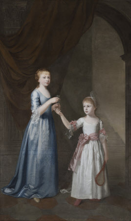 Frances Delaval, later Mrs Fenton Cawthorne (1759 - 1839), with her Sister, Sarah Delaval, later ...