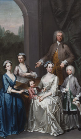 Sir Jacob Astley, 3rd Baronet Astley of Hill Morton (1692-1760), with his wife, Lucy L'Estrange, ...